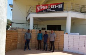 महाराष्ट्र-छत्तीसगढ़ की सीमा से 385अंग्रेजी शराब की पेटियां व दो युवक गिरफ़्तार