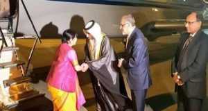OIC की बैठक के लिए दुबई पहुंची सुषमा स्वराज