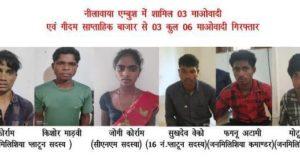 दंतेवाड़ा में सुरक्षाबलों को बड़ी कामयाबी, नीलवाया हमले में शामिल 3 नक्सली सहित 6 माओवादी गिरफ्तार