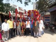रामनवमी पर निकली भव्य शोभायात्रा, मंदिर ट्रस्ट ने किया भंडारे का आयोजन