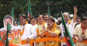 भाजपा प्रत्याशी सुनील सोनी ने गाजे-बाजे के साथ