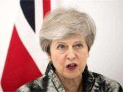 ब्रिटेन की प्रधानमंत्री थरेसा मे आपातकालीन बैठक बुलाई टैंक जब्ती को लेकर